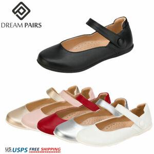 DREAM PAIRS Girls Mary Jane Flats School Uniform Shoes Dress Oxford Toddler