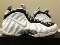 Nike Air Foamposite Pro White Black Red Size 8-14 LIMITED 100% Authentic