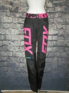 Fox Racing Switch Pants Womens Size 6 Black and Pink Motocross Bike Extreme