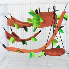 Warm Flannel Bed Hamster Hammock Pet Swing Hammock Hanging Bed Small Pet Cage