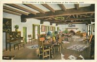 1920s Interior Clubhouse San Clemente California Kashower postcard 6160
