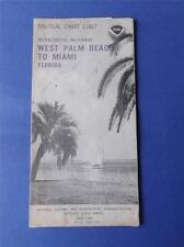 NAUTICAL BOATING CHART WEST PALM BEACH TO MIAMI FLORIDA INTERCOASTAL 1979