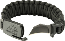 New Outdoor Edge Large Black Para-Claw Paracord Knife Bracelet Tactical Pck-90D