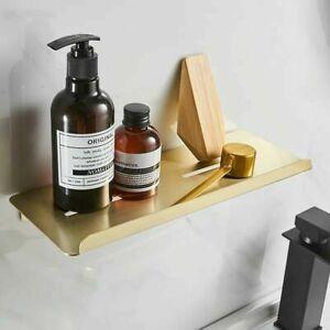 Brushed Gold Metal SUS Bathroom Shelf Wall Storage Rack Washstand Single Holder