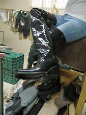 Thigh high cowboy boot PATEMT LEATHER, 32 INCH SHAFT in stock boots size 11