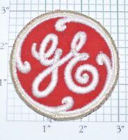 Red General Electric GE Vintage Embroidered Clothing Patch Applique Uniform Logo