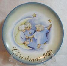 Schmid B Hummel Plate Christmas Tell The Heavens Angel No Box Vtg 1986