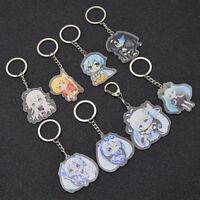 1pc Anime Hatsune Miku Figures Keychain Acrylic Cartoon Key Pendant Keyring