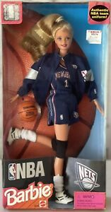 1998 NBA Official Licensed New Jersey Nets Barbie Doll Mattel 20726