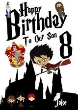 Personalised Harry Potter Birthday Card