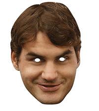 Roger Federer célébrité 2D Fête Carte Masque Visage Déguisement Tennis Champion