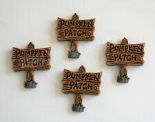 4 Pumpkin Patch Signs / Flat-Back Fall Embellishments / Dress It Up