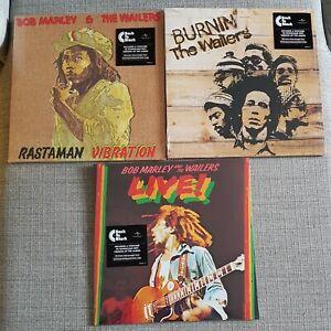 BOB MARLEY-COLLECTION OF 3 x NEW SEALED LP's-RASTAMAN,BURNIN' & LIVE AT LYCEUM
