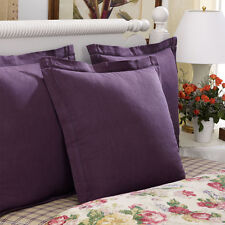 RALPH LAUREN HOME SURREY GARDEN TWILL HEMSTITCH EURO SHAM(1) ~ PURPLE