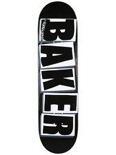 """Baker Brand Logo Skateboard Deck - 8.25"""" Black/White"""