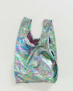 NWT New BABY BAGGU Reusable Bag RAINBOW METALLIC SOLD OUT EVERYWHERE Oil Slick