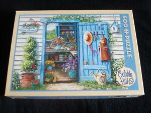 """COBBLE HILL  """" WELCOME TO MY GARDEN"""" 500 Piece PUZZLE Complete.  24"""" x 18"""""""