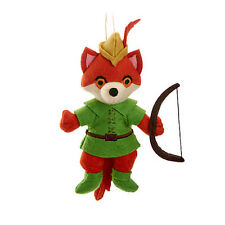 Disney Parks Robin Hood Storybook Plush Holiday Ornament New with Tags