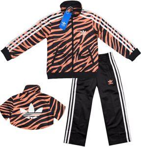 Adidas Kids Tracksuit Girl Jogging Suit Sport Suit Jacket Trousers Trefoil