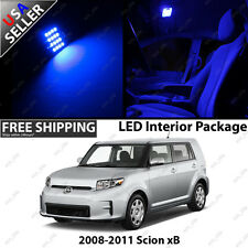 Scion xB 4 Door Blue 12V LED SMD Full Interior Light Bulb Combo Package Toyota