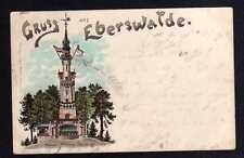 93659 AK Litho Eberswalde 1897 Kaiser Wilhelm Turm