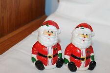 Vintage Mount Clemens Pottery Merry Mates Santa Salt & Pepper Shakers