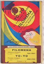 FILOMENA CIOCIANO CHIAPPO YO-YO PAVESIO 1932 FOX TROT