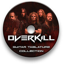 OVERKILL THRASH HEAVY METAL ROCK GUITAR TAB TABLATURE SONG BOOK SOFTWARE CD
