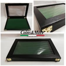 Cofanetto vetrinetta per collezionismo espositore Poker vetrina display legno