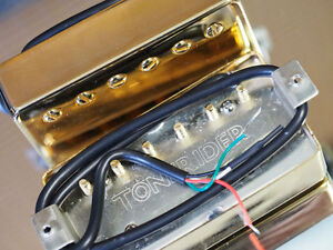 Tonerider Rocksong Bridge Pickup Gold Cover - Humbucker - overwound Alnico II