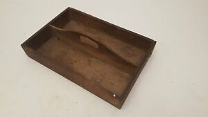 """11 3/4"""" x 8"""" Vintage Wooden Tray 36646"""
