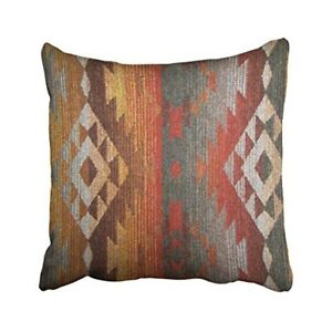 Pillow Case Cover Sofa Bed Decor Throw Aztec Southwestern Couch Multi Color New