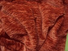 1 SUPER Thermo Winter Chenille Vorhang Gardine terracotta Band B/H 135 x 245