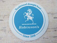 Beer Coaster Mat ~::~ ROBINSON'S Draught Since 1838 ~ Stockport, ENGLAND Brewery