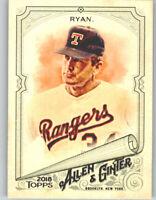 Nolan Ryan 2018 Topps Allen & Ginter BASE CARD Rangers #124