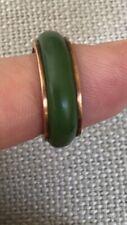 vintage 14K gold jade green ring