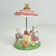 New ListingVintage 1995 Terry's Village Easter Bunny Rabbits Family Garden Party Figurine