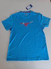 Mens Mizuno Drylite Imp Core Graphic Tee tshirt Active Wear Diva Blue Size M