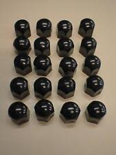 Black High Gloss Stainless Steel Wheel Nut Covers 19mm fits JEEP