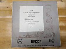 """DECCA LX.3069 10"""" 33RPM '50 ENRICO MAINARDI, BACH """"SUITE 3 IN C MAJOR"""" FFRR VG+"""