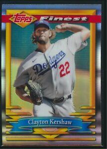 2021 Topps Finest Flashbacks Refractor #189 Clayton Kershaw Dodgers