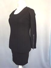 Robe marque CLOSED longue noir Stretch moulante Taille FR40 US8 UK12 EUR38