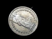 19th century Helvetia 1/2 Fr coin brooch.