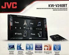 "JVC KW-V240BT 6.2"" 2-Din Bluetooth In-Dash DVD/CD/AM/FM/Digital Media Stereo"
