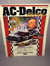 1991 AC-Delco 200/500 NASCAR Winston Cup program Rockingham NC