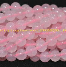 "6mm Natural Pink Rose Quartz Gemstone Ruby Round Jade Loose Beads 15"" Aaa ."