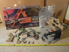 Star Wars Micro Machines Yavin Rebel Base. Galoob Action Fleet playset. Complete
