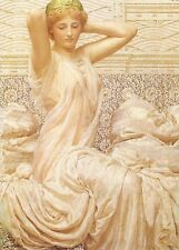 Art on Silk ~ 2.25x3.25 Lovely lady in white gown w green cap crazy quilt silky