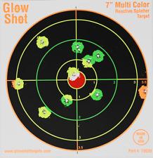"100pk Reactive Splatter Targets, Rifle Shots Glow On Target, Practice Aiming, 7"""