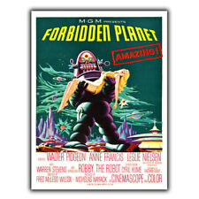 METAL SIGN WALL PLAQUE Forbidden Planet ROBBY THE ROBOT Movie Film Retro sci-fi